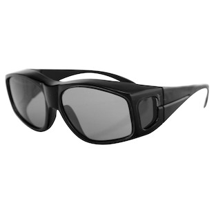 Bobster Over The Glass Sunglasses (Color: Black) 148105