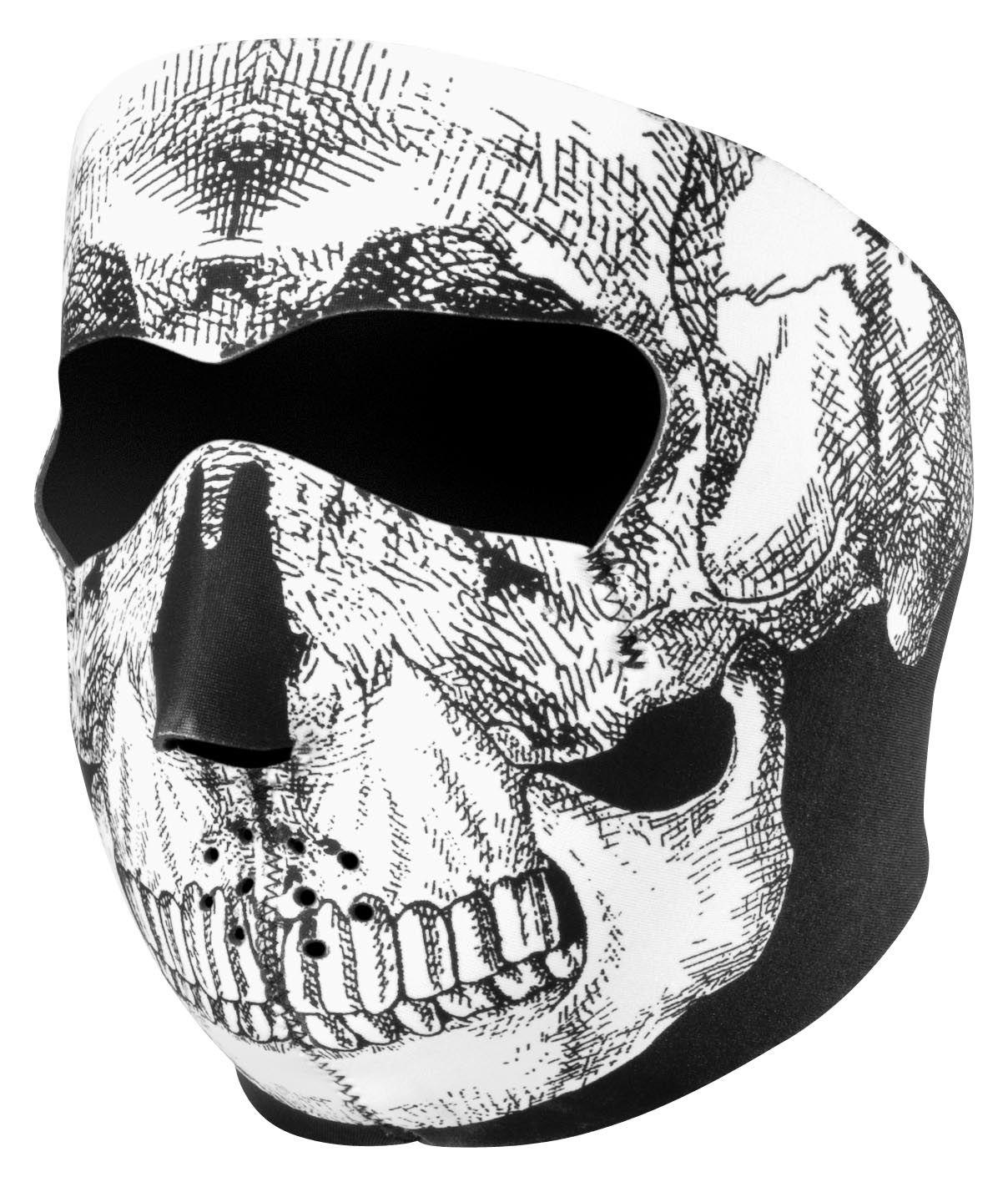 89c68254054 ZANheadgear Skull Neoprene Full Face Mask - Cycle Gear