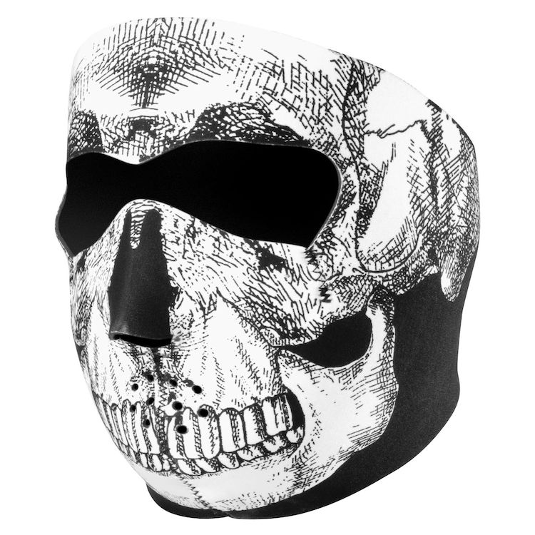 Black/White Skull Face