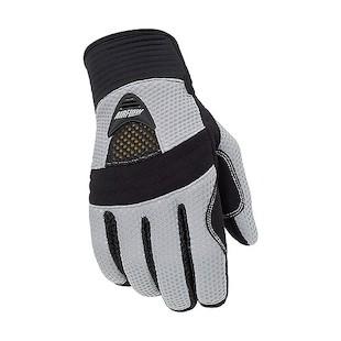 Tour Master Airflow Women's Gloves (Color: Silver / Size: LG) 287706