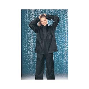 Tour Master PVC Rain Suit (Color: Black/Black / Size: SM) 288081