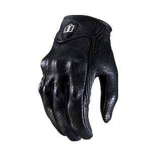 Icon Pursuit Perforated Women's Gloves (Color: Black / Size: LG) 294459