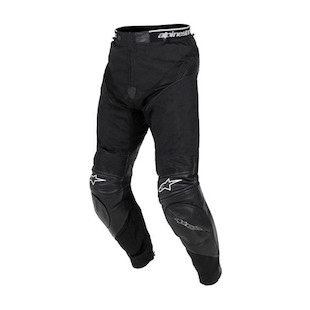 Alpinestars A10 Sport Leather / Textile Pants (Color: Black / Size: 56) 306090