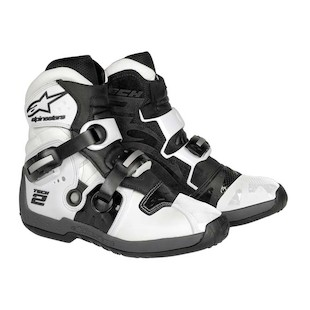 Alpinestars Tech 2 Boots (Color: White / Size: 8) 306915