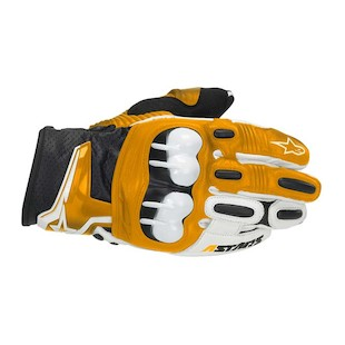 Alpinestars GPX Leather Gloves (Color: Orange / Size: MD) 304204