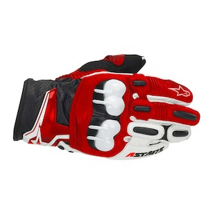 Alpinestars GPX Leather Gloves (Color: Red / Size: 2XL) 304195