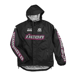 Icon PDX Rain Women's Jacket (Color: Black/Pink / Size: XL) 418851