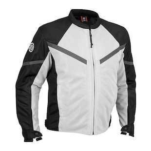 Firstgear Rush Mesh Jacket (Color: Silver/Black / Size: LG) 527317