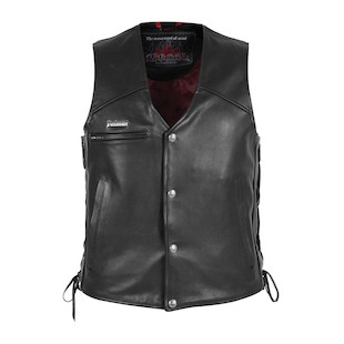 Pokerun Cutlass 2.0 Leather Vest [Size MD Only] (Color: Black / Size: MD) 533721