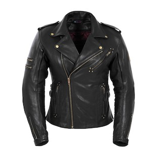 Pokerun Women's Marylin Leather Jacket (MD) (Color: Black / Size: XS) 533795