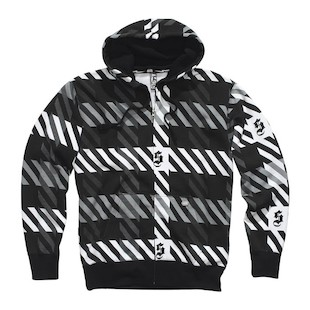 Shift Plaid Zip Hoody (Color: Black/White / Size: XL) 670742