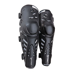 Fox Racing Titan Pro Knee/Shin Guards (Color: Black/Silver) 632055
