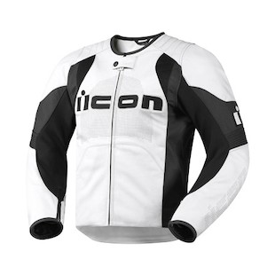 Icon Overlord Leather Jacket (Color: White / Size: SM) 722350