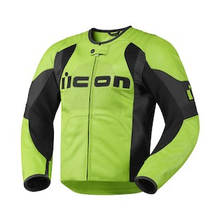 Icon Overlord Leather Jacket (Color: Green / Size: SM) 722365