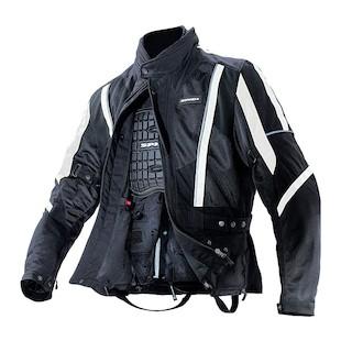 Spidi Netwin Textile Jacket (Color: Black/White / Size: 2XL) 564056