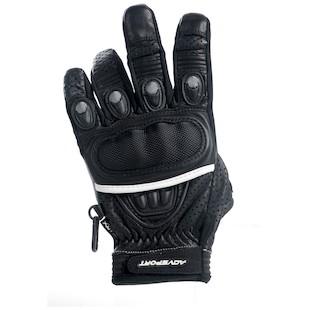 AGV Sport Stiletto Short Gloves (Color: Black / Size: LG) 615389