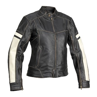River Road Dame Women's Leather Jacket (Color: Black / Size: W2XL) 710221