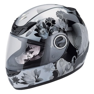 Scorpion EXO-400 Lilly Helmet (Color: Black / Size: MD) 760122
