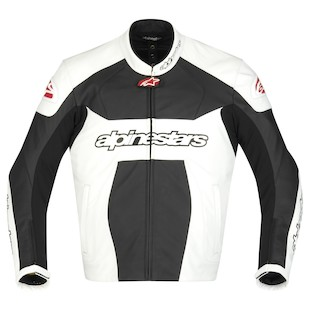 Alpinestars GP Plus Leather Jacket (Color: White/Black / Size: 52) 761562