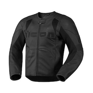 Icon Overlord Leather Jacket (Color: Stealth Black / Size: LG) 722345