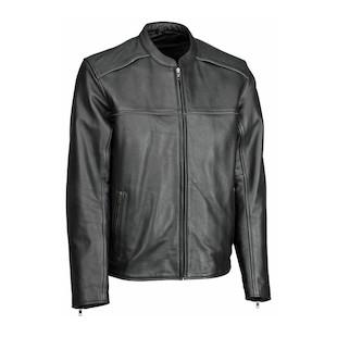 River Road Seneca Cool Leather Jacket (Size 48 Only) (Color: Black / Size: 48) 766606