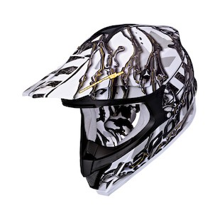 Scorpion VX-34 Oil Helmet (Color: White/Black / Size: XS) 783379