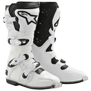 Alpinestars Tech 8 Light Vented Boots (Size 10 Only) (Color: White / Size: 10) 783988