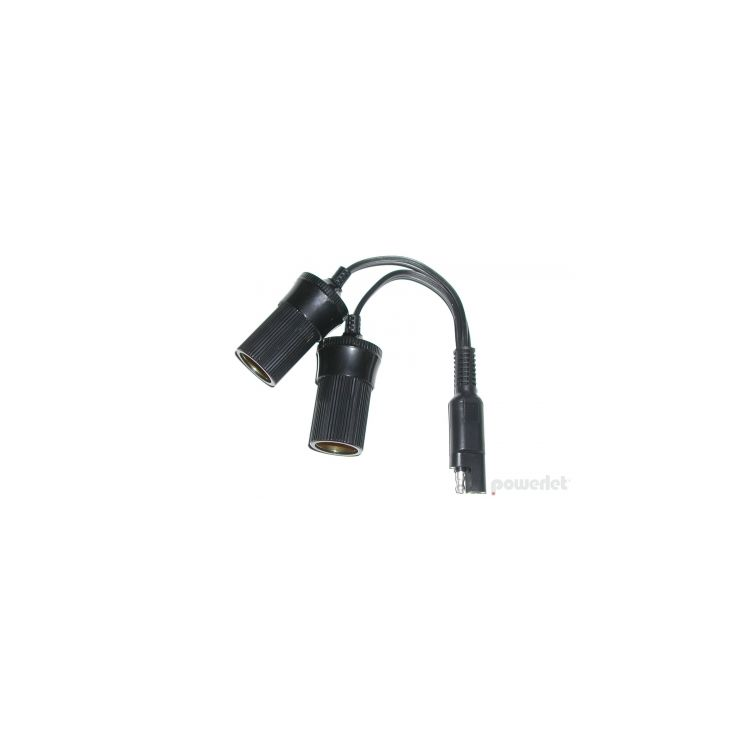 Powerlet SAE To Dual Cigarette Socket Y Cable