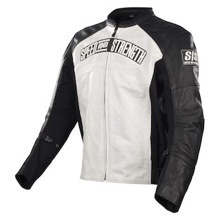 Speed and Strength Seven Sins Leather/Textile Jacket (Color: White/Black / Size: LG) 798845