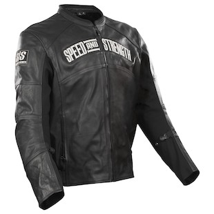Speed and Strength Seven Sins Leather/Textile Jacket (Color: Black/Black / Size: XL) 798840