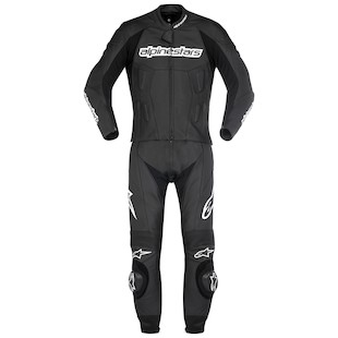 Alpinestars Carver 2 Piece Race Suit (Size 60 Only) (Color: Black / Size: 60) 799283