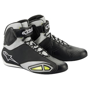 Alpinestars Fastlane Shoes (Color: Black/Silver/Yellow / Size: 8) 799366