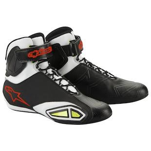 Alpinestars Fastlane Shoes (Color: Black/White/Yellow / Size: 14) 799461