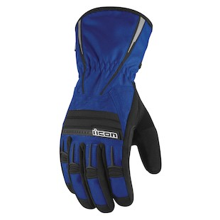Icon PDX Waterproof Gloves (Color: Blue / Size: MD) 800269