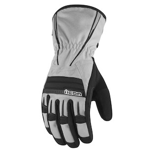 Icon PDX Waterproof Gloves (Color: Grey / Size: MD) 800259