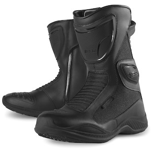 Icon Reign Waterproof Women's Boots (Color: Black / Size: 6) 800338