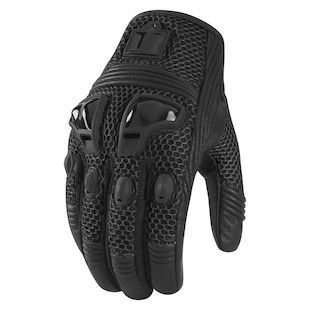 Icon Women's Justice Mesh Gloves (Size XS Only) (Color: Stealth Black / Size: XS) 800321