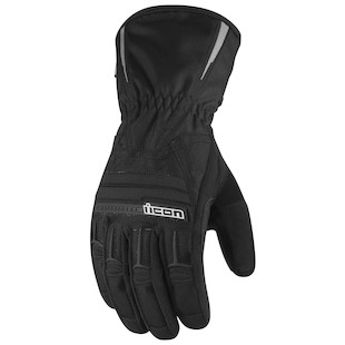 Icon PDX Waterproof Women's Gloves (Color: Black / Size: XS) 800333