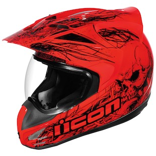 Icon Etched Variant Helmet (Color: Red / Size: XL) 594992