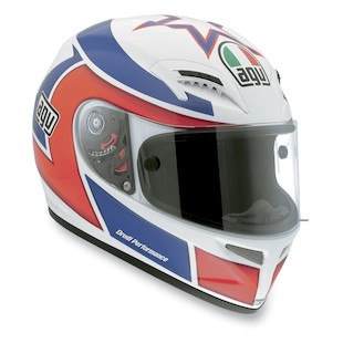 AGV Grid Lucchinelli Replica Helmet (Color: White/Red/Blue / Size: XL) 813399