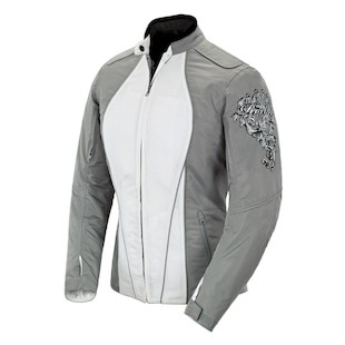 Joe Rocket Alter Ego 3.0 Women's Jacket (Color: Silver/White / Size: 2 Diva) 812920