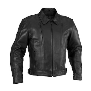 River Road Cruiser Leather Jacket (Color: Black / Size: 40) 566734