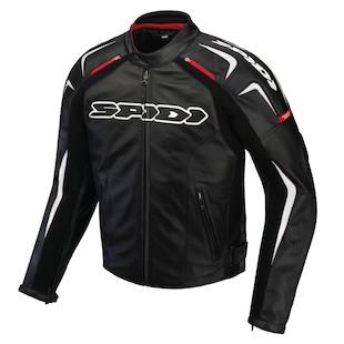 Spidi Track Leather Jacket (Color: Black/White / Size: 46) 1099965