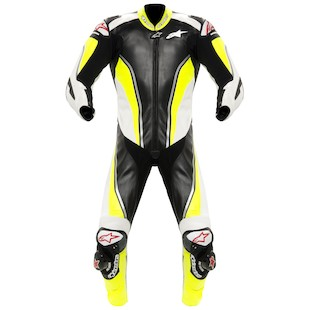 Alpinestars Race Replica Suit (Size 48 Only) (Color: Black/Yellow/White / Size: 48) 819156