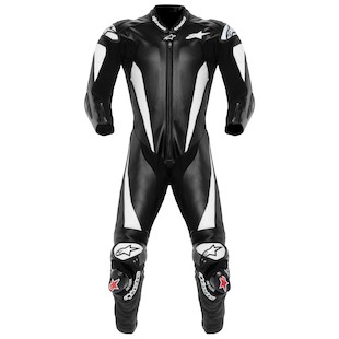 Alpinestars Race Replica Suit (Size 48 Only) (Color: Black/White / Size: 48) 819144