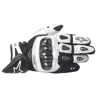 Alpinestars SP-X Gloves (Color: White/Black / Size: LG) 819055