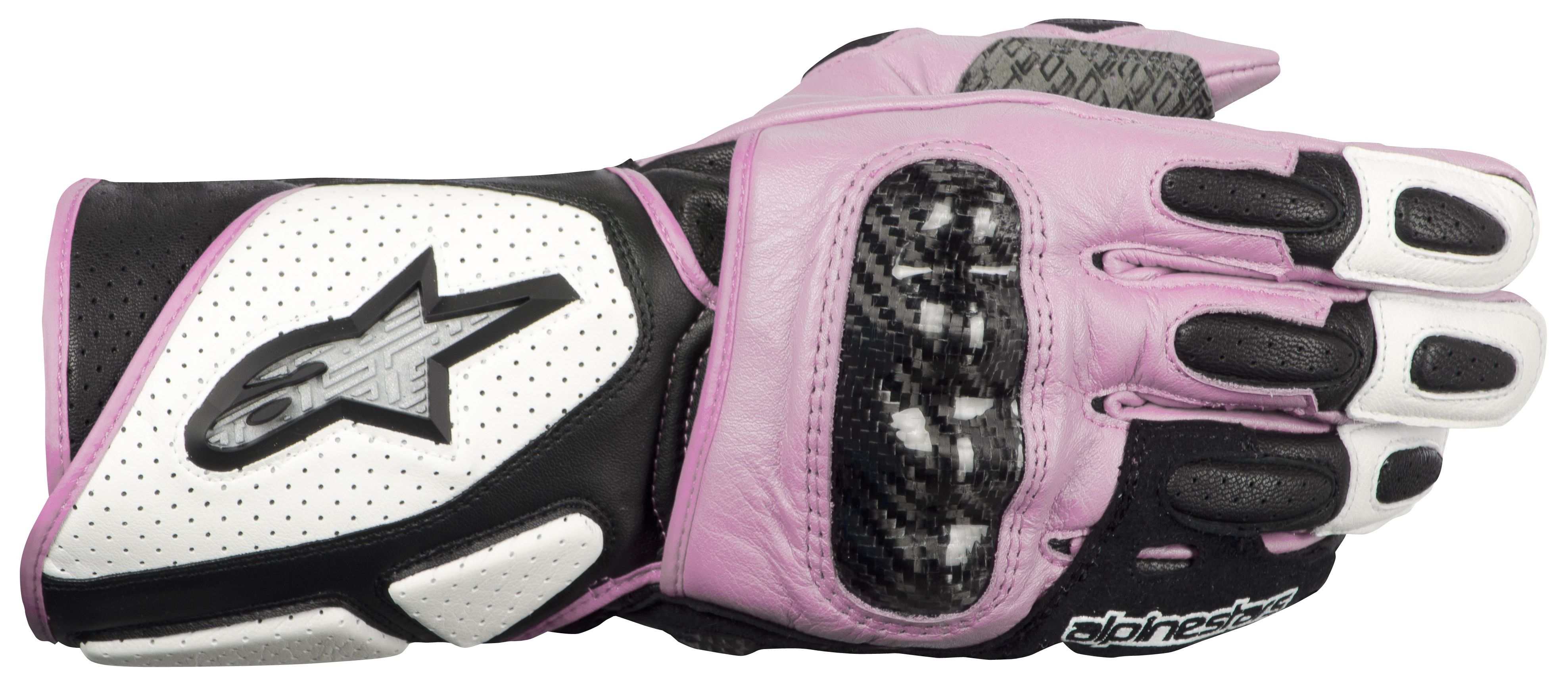 Womens pink leather motorcycle gloves - Womens Pink Leather Motorcycle Gloves 9