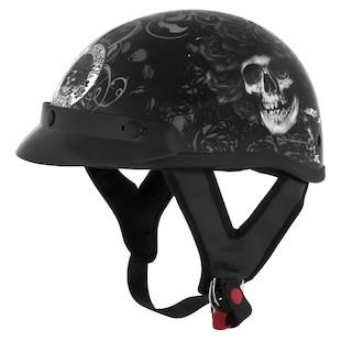 River Road Grateful Dead Skulls & Roses Helmet (Color: Black/White / Size: SM) 822082