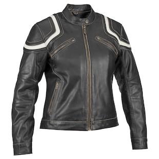 River Road Babe Vintage Women's Leather Jacket (Color: Black / Size: WMD) 820252