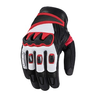 Icon Compound Mesh Short Gloves (Color: Red / Size: SM) 822749